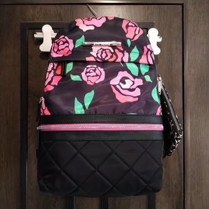 Betsey Johnson backpack with wristlet